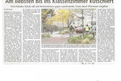 Zeitungsartikel 6.11.18 Verkehrsaktion